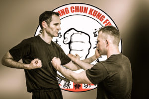Cambridge Wing Chun student Jay Mansfield performs Taan Da.